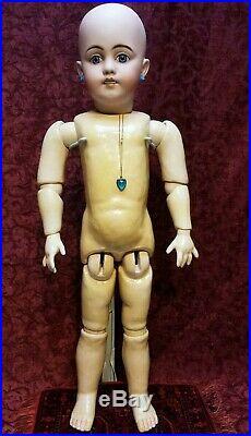 LARGE 27 Antique German Simon Halbig 1009 Bisque Socket Head Doll Beauty