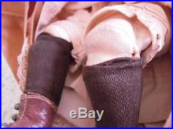 LL-2 Antique doll F GBEBE bisque withleather body orig. Clothing & wig 13