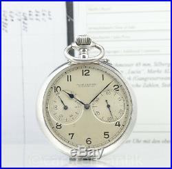 Large 22 A. Lange & Söhne Deck Watch Silver German Marine Chronometer