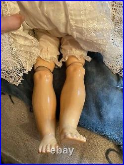 Large 28 Mold Kestner 171 German Bisque Head Child Doll As Is Free Ship