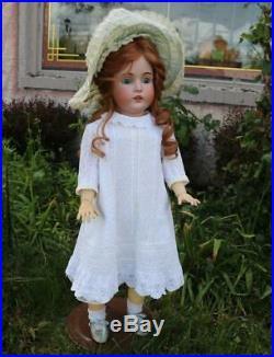 Large 30 Inch Antique Kestner 171 German Bisque Doll Adorable Outfit Bonnet