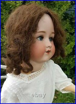 Large 32Antique Armand Marseille 390 Bisque Head Doll&Edwardian Lawn Dress A15M