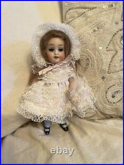 Large Antique All Bisque Kestner 7 German Doll With Sticker On Chest