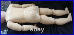 Large Antique German Doll, CM Bergmann Simon & Halbig, Ball Jointed Compo Body