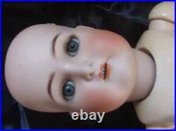 Large Antique German Doll Kammer & Reinhart Simon & Halbig on Rare Walker Body