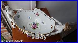 Large Antique Von Schierholz German Dresden Cherub Urn bowl Angel vintage
