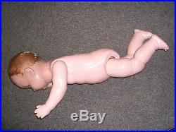 Large OLD Vintage Composition German jointed Baby doll sleepy sleeping eyes