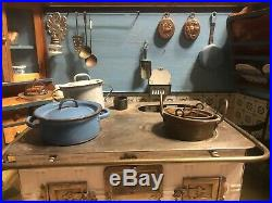 Lg. Antique German Toy Kitchen, withworking Stove, loads Of Rare Original Accessories