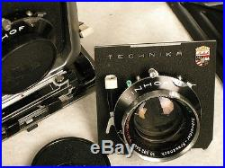 Linhof Technika And Large Lot Of Accessories Antique Vintage Camera German Made