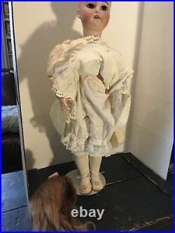 Lovely 32 Kammer & Reinhardt Bisque Girl Doll Simon & Halbig Human Hair Wig