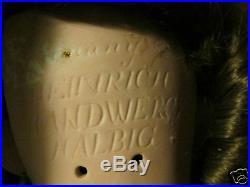 Lovely Antique German Bisque Head, H Handwerck 28inch, Original Stamped Body