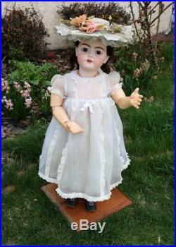 Massive 34 Inch Antique German Bisque Handwerck 79 Doll Large Child Size c. 1900