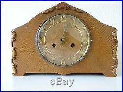 Mauthe German Vintage Antique Mantel Shelf Clock (Junghans Kienzle Hermle era)