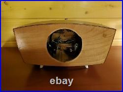 Mid Century Modern Vintage German Weimar Table Fireplace Cabinet Clock