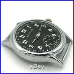 Military WW2 Watch GLYCINE DH Original Mechanical AS 1130 Rare Black German Army