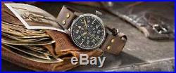 New Laco 861932 Pilot Watch German Homage Vintage Paderborn Erbstuck Aviator