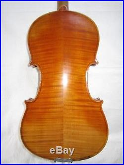 Nice Antique German Violin 4/4 Stradivarius Old Vintage Fiddle Ready to Play