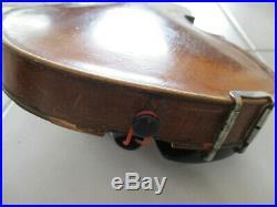Old Antique HOPF German Violin Vintage Fiddle withWood Coffin Style Case Old