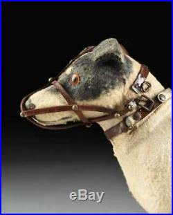 Old Antique Vintage Muzzled Terrier Dog Pull Toy German Steiff