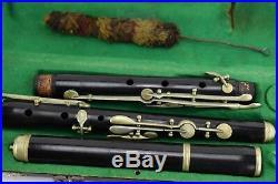 Old German Flute Musical Band Instrument Antique GHS Gerhard Hüller Schöneck VTG