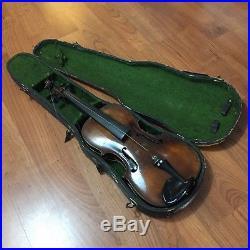 Old German Hopf Violin For Restoration Piece Damaged Family Heirloom Vtg Antique