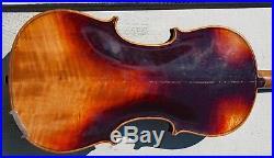 Old Vintage Antique 4/4 German shop violin ca. 1910, #1304