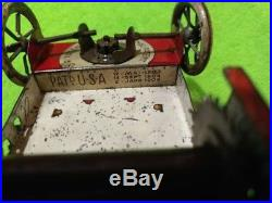 Old toy vintage antique 1914 German Litho Tin ice truck as is