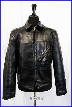 Original 1940's WW2 German HORSEHIDE Leather Luftwaffe Jacket 42R M