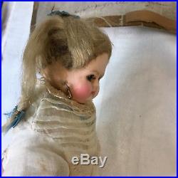Original Providence 1849 Wax over Paper Mache 12 German Doll Antique Vintage