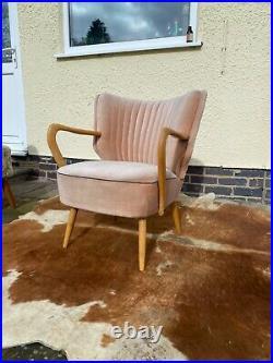 Original Single MID Century Vintage German Cocktail Armchair / Chair