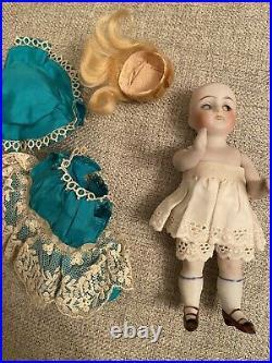 Pretty Antique 5 All Bisque German Kestner Mold 130 Doll Original Clothes