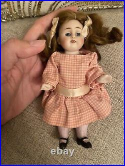 Pretty Antique 6 All Bisque Doll German Kestner Mold 150 Original Wig Dress