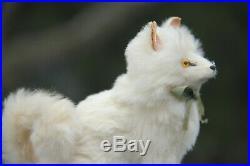 RARE ANTIQUE MINIATURE GERMAN WHITE POMERANIAN SPITZ DOG c1910! NO RESERVE