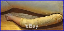 RARE Antique 1800's 32 Kestner N 17-166 Bisque Cork Doll German Double Joint