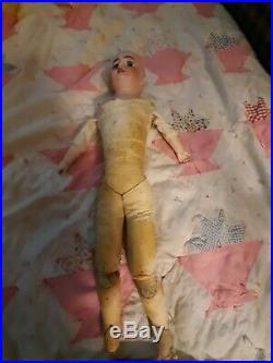 REDUCED! Antique 20-Inch Simon & Halbig 1080 Doll In Old-Fashioned Dress