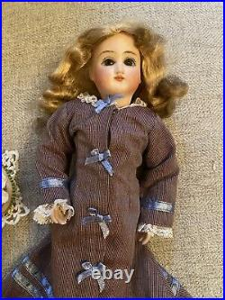 Rare 10 Antique Bisque Head Belton Sonneberg Doll On Seeley Body Fashion Doll
