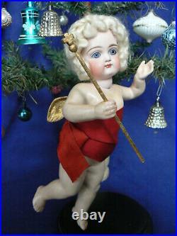 Rare 9 Kestner Angel Doll Closed Mouth Christmas Store Display 24K Wings Staff