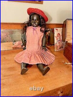 Rare Antique Black Bisque Armand Marseille DollPrecious Child Doll