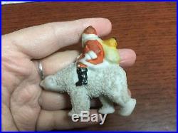 Rare Antique Santa & Polar Bear Bisque German Snow Baby c1910 Vintage Christmas