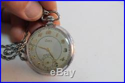 Rare Antique Vintage Old German Stowa Precision Mens Pocket Watch