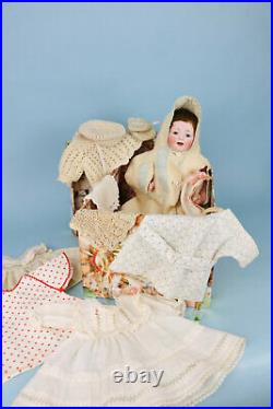 Rare'Dwarf' Body Kestner JDK 235 Antique Doll with Trousseau and Accessories