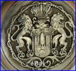 Rare antique WWI German military award System Glashutte silver pocket watch