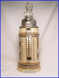 Regimental Garde zu Fuss Beer Stein German Antique Vintage Military Pre-WWI