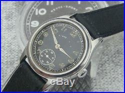 Revue Sport Calibre 59 WW2 German Miltary DH Watch Wehrmacht 1940 203264 H/Wound