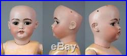 SIMON & HALBIG 1079 26.5 Antique Bisque Doll withOrig Finish Early Unmarked Body