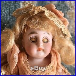 STUNNING Kestner #158 All Bisque Antique Doll Mignonette German Miniature