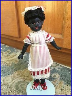SWEET! Exotic AM sonneberg Type Antique Ebony Black German Doll Bisque 11 1/2