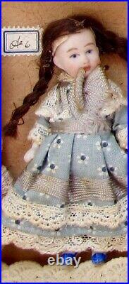 Salesman's Sample Box 10 Antique German Bisque head Dolls