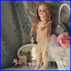 Simon and Halbig Antique Procelain Doll Mold 550 Sleepy Eyes Old Dress