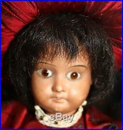 Simply Stunning Armand Marseille 390 Brown/Black Mutatto Doll 12 Tall